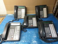 Lot of 5 Toshiba DKT3020-SD 20-Button Charcoal Display Speakerphone