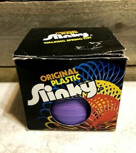 Vintage Original Plastic Slinky Made In USA Purple to Pink New In Box