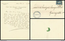 J) 1879 MEXICO, 25 CENTS BLUE, BLUE CANCELLATION, COMPLETE LETTER, CIRCULATED C