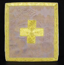 Bourse liturgique de carporal messes catholiques traditionalistes doré silk