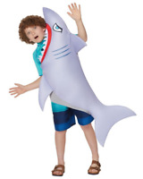 JAWS SHARK ATTACK HALLOWEEN COSPLAY CHILD MOVIE COSTUME SM/MED 8-10 NEW