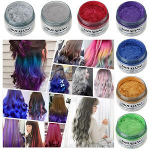 HOT!!! 7 Colors DIY Hair Color Wax Mud Dye Cream Temporary Modeling Hair Care==