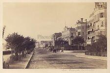 Nice Promenade des Anglais Photographe primitif France Vintage albumine vers 18
