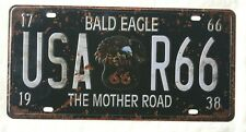 ROUTE 66 USA METAL TIN NOVELTY NUMBER LICENSE PLATE WALL SIGN GIFT