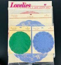 VTG NOS Hallmark French Lace/Lovelies Paper Doilies Colored Craft Card LARGE LOT