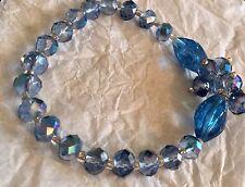Avon Sparkling Beaded Stretch Bracelet NIB Blue