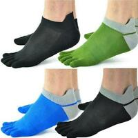 5 Pairs Cotton Blend Soft Men's Five Fingers 5 Toe Socks Absorbent Stockings Top