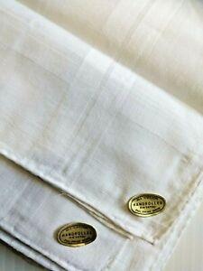 New 12 Hand Rolled All Cotton White Men's Handkerchief