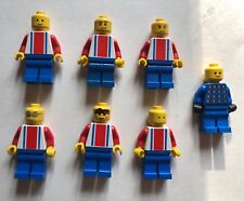 LEGO Soccer Players (6) Soccer Players + 1 Goalkeeper Red White and Blue team