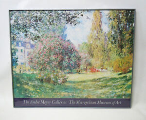 The Parc Monceau by Monet Print Framed 37 x 30 Poster Wall Art Painting