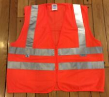 Dsp Orange Safety Vest Sz Med Meets Ansi 107-2004 Compliant Cls 2 Lvl 2 - New