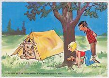 CPSM HUMOUR ILLUSTRATEUR JEAN BRIAN VACANCES Vache tente chien campeurs Edt CIM