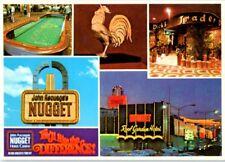 John Ascuaga's Nugget Casino Postcard Sparks Reno Trader Dick's Tiki Gold Cock a