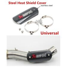 Motorcycle Exhaust Mid Link Pipe Heat Shield Protector Cover Heel Guard Cover