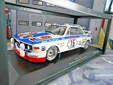 BMW 3.0 CSL 24h Spa 1973 #15 Peltier Menzel Alpina Dealer Chevro Minichamps 1:18