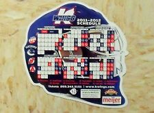 2011-12 Kalamazoo Wings (Echl) goalie mask shaped team issued magnet schedule