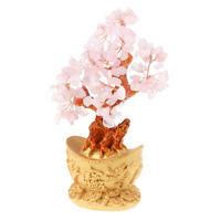 7'' Crystal Luck Yuan Bao Money Tree Feng Shui for Wealth &Luck Home Decor#4