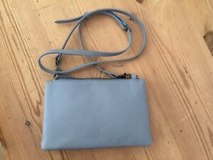 White Stuff small cross body leather bag pale blue