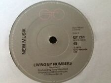 """NEW MUSIK . LIVING BY NUMBERS 1979 . ( NEW WAVE POWER POP ) 7"""" vinyl single"""