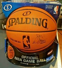 Spalding Traxxion Nba Game Ball Leather Basketball New Carlos Boozer Signed