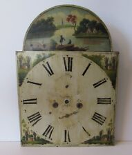 Antique 1880 Hand Painted Tall Case Grandfather Clock DIAL, Original Part