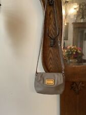 Marc By Marc Jacobs Leather Crossbody Shoulder Bag Classic Q Purse Gray