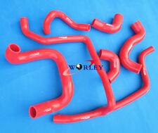 Red silicone radiator hose for BMW E30 M20 320i / 325i 1989 1990 1991 1992