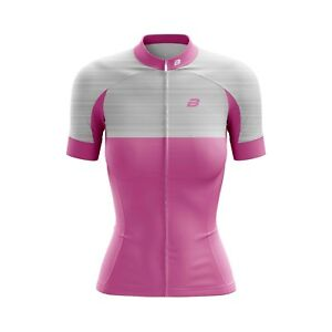 Women Cycling Jersey Bicycle Sportswear Top Clothing Short sleeves Baby pink