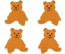 ~ Cute Brown Teddy Bear Baby Boy Girl Children Mrs Grossman Stickers ~