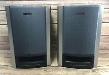 Pair Of AIWA SX-M33 Bi-Powered Bookshelf Stereo Speakers Wood 8 Ohms Tested