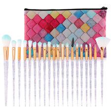 20PCS Diamond Make up Brushes Set Foundation Eyeshadow Eyeliner Powder With Case
