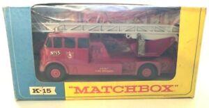 Lesney MatchBox K-15 Merryweather Fire Engine w/Original Window Box