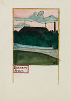 BURGER, Ansicht der Bierbrauerei Bavaria, um 1900, Aquarell