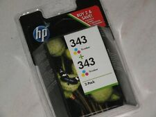 HP 343 - Pack de 2 cartouches HP numero 343 C8766EE couleur 100% neuf origine