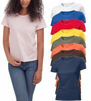 Hanes Plain Summer Weight Organic Cotton Ladies Womens Womans Girls Tee T-Shirt