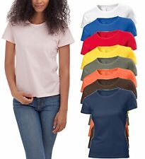 Hanes Liso Verano Peso Algodón Orgánico Mujer Mujer Niña Camiseta