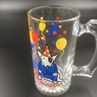 1987 BUD LIGHT~Spuds Mackenzie~ Glass MUG~The Original Party Animal