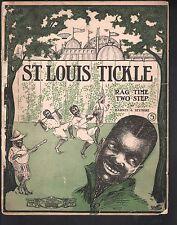 Saint Louis Tickle 1904 Large Format Sheet Music