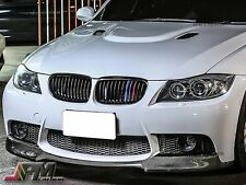 2009-2011 BMW 323i 328i 335i E90 LCI Gloss Black Front Grille with M-Tri 3 Color