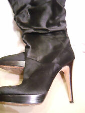 Womens Brian Atwood Slouchy pony hair stiletto boots size 37.5, or 7