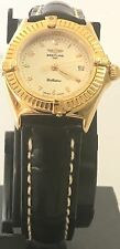 Mint Ladies Breitling 18k Solid Gold Calistino  Factory Arabic Dial Swiss watch