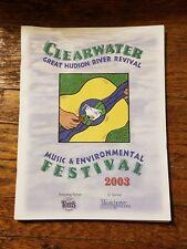Program The Great Hudson River Revival 2003 Sloop Clearwater