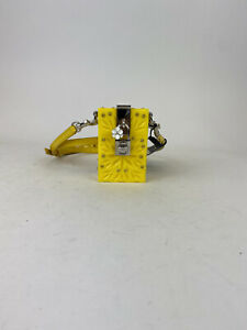 DOLCE & GABBANA Cigarette Case Holder Yellow Crystal Plexiglass Cross RRP $1450
