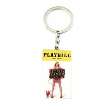 Legally Blonde Broadway Musical Playbill Silvertone Charm Pendant Keychain