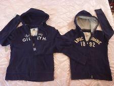 Lot 2 Gilly Hicks Abercrombie L Juniors Hoodie Navy Blue Sweatshirt  Women XS