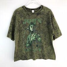 Vintage John Lemmon Green Tee T Shirt Large L USA Made