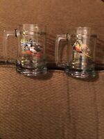 """""""2"""" WILDLIFE NATURE GLASS BEER MUGS - CANADIAN GOOSE/PHEASANT"""