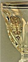 Weinglas Baccarat Harcourt Empire Gold  Pokal 1von 6 Rotwein France (P129)