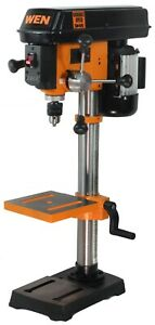 WEN 4212T 5-Amp 10-Inch Variable Speed Benchtop Drill Press with Laser