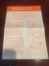 1985-87 Grand National Powermaster Brake Booster Installation Instructions GM
